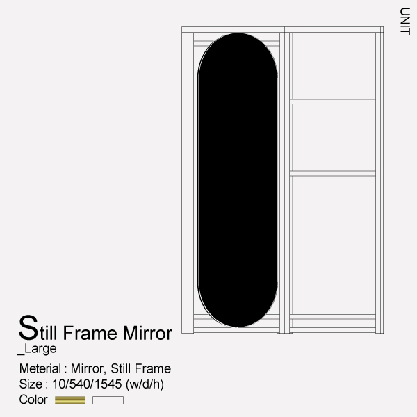 Steel frame Mirror_Large