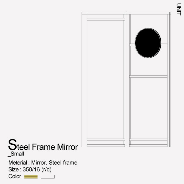 Steel frame Mirror_Small
